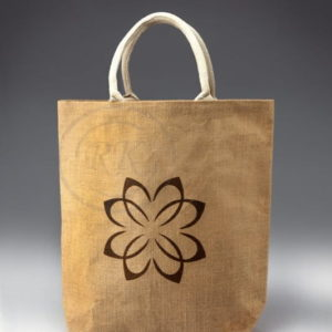 jute beach bag wave cotton tote style