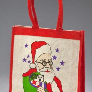 jute Christmas promotional bags