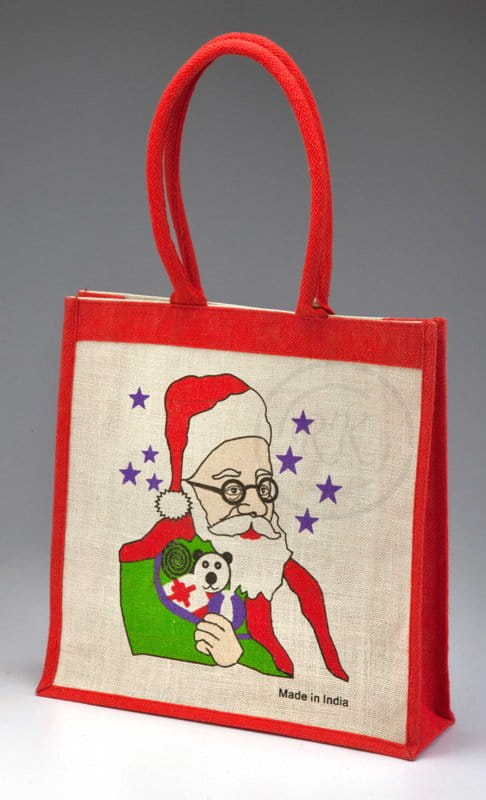 jute Christmas promotional bags