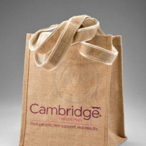 jute promotional bags tape handle