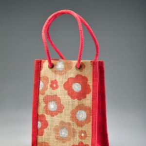 jute toy bag with i-let handle