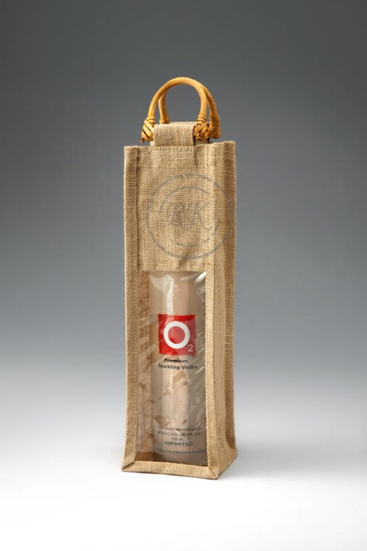 Jute Wine Bag Single Bottle 1