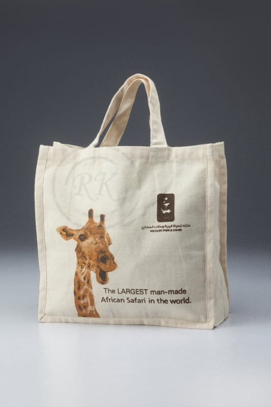 canvas bag with multi-color print