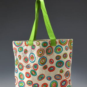 canvas ladies bag with zipper