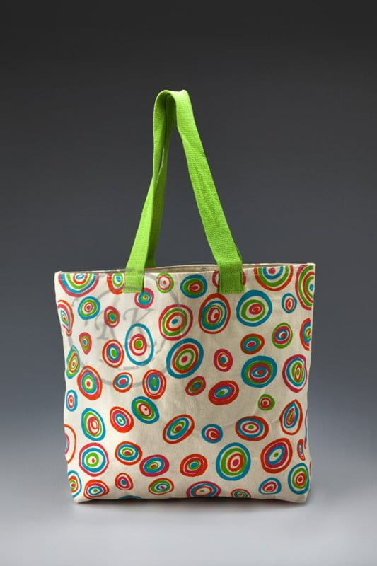 canvas ladies bag with zipper
