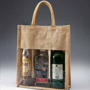 Fancy Wine Bag 3 Bottle With Pvc Front 3