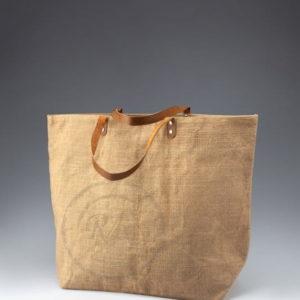 jute beach bag leather handle