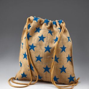 jute drawstring beach bag