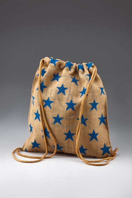 jute drawstring beach bag