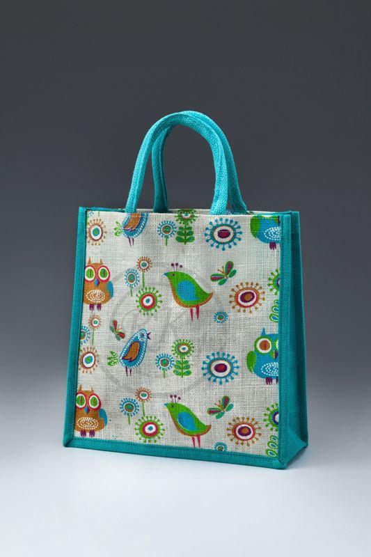 Jute Printed Bags Webbed Handle