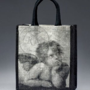 Printed Jute Promotional Bags Short Handle