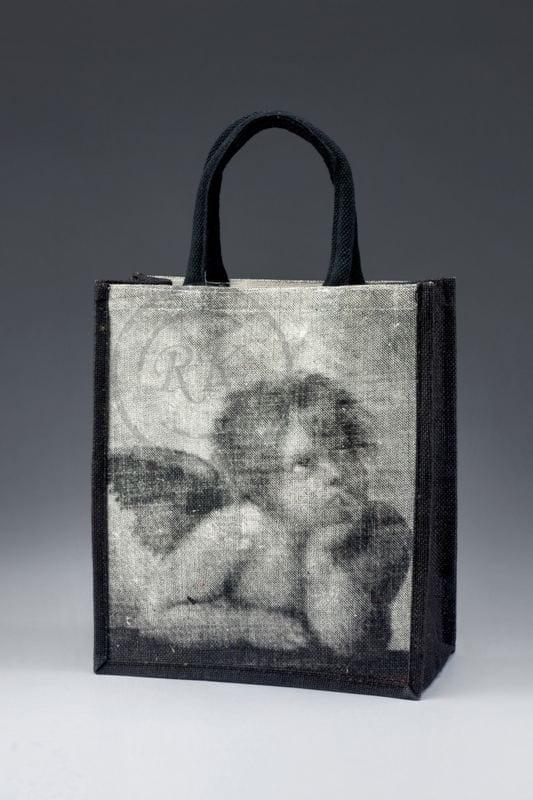 Printed Jute Promotional Bags Short Handle