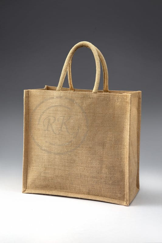 jute shopping bag cane without print