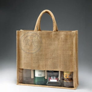 Jute Wine Bag Padded Handle 4 Bottle 2