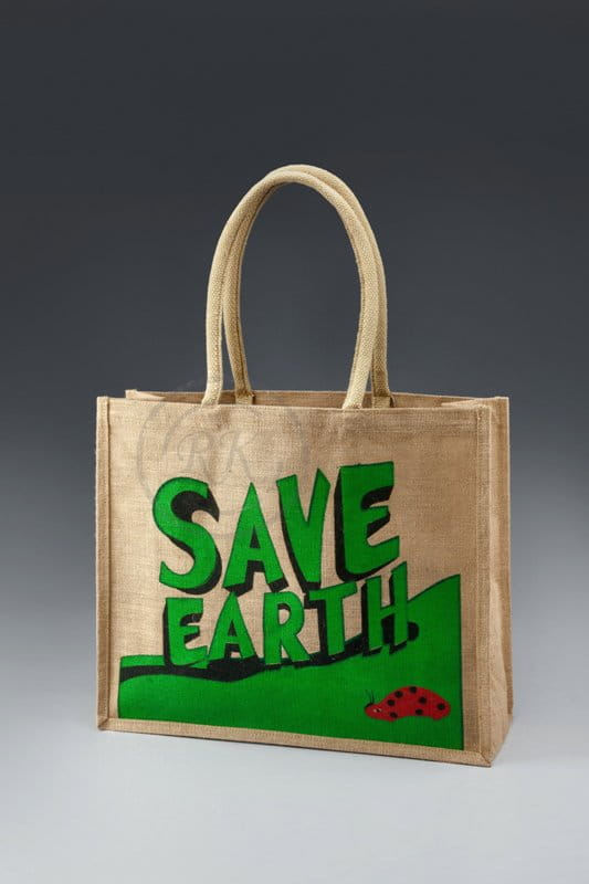 save earth jute shopping bag