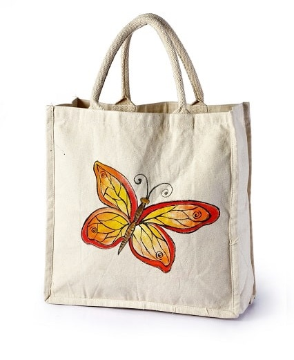 cotton bag butterfly print