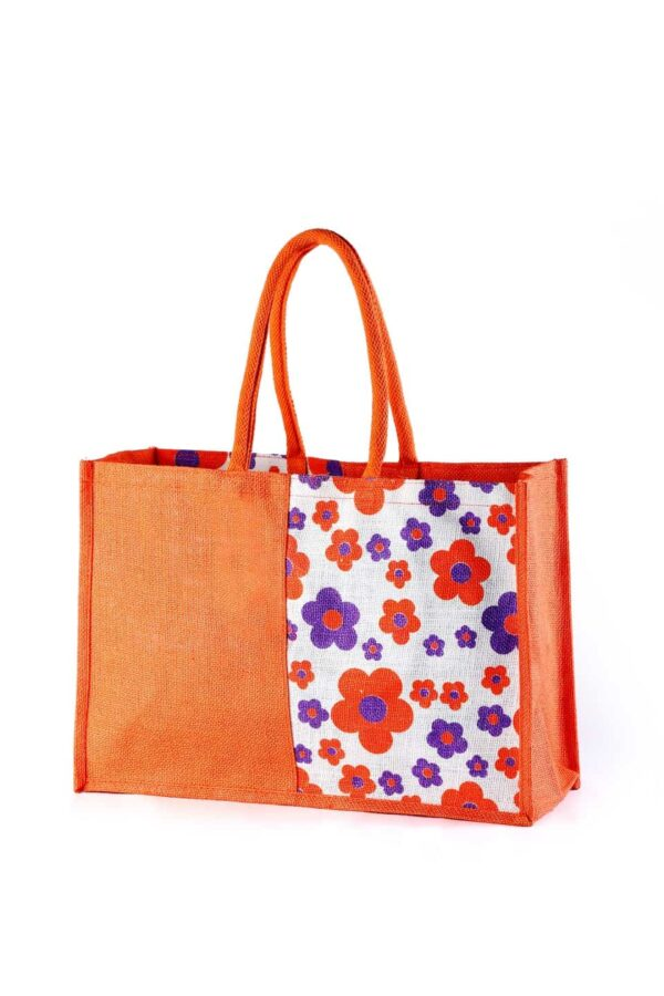 Jute Fashion bag Dual Color Printed