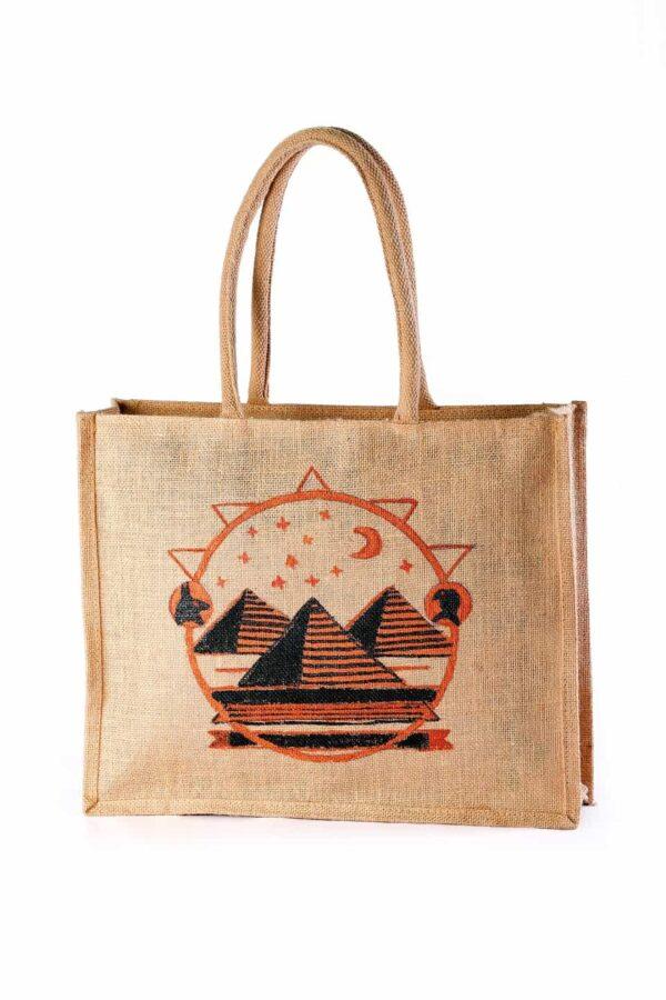 Jute Shopping bag Pyramid Printed