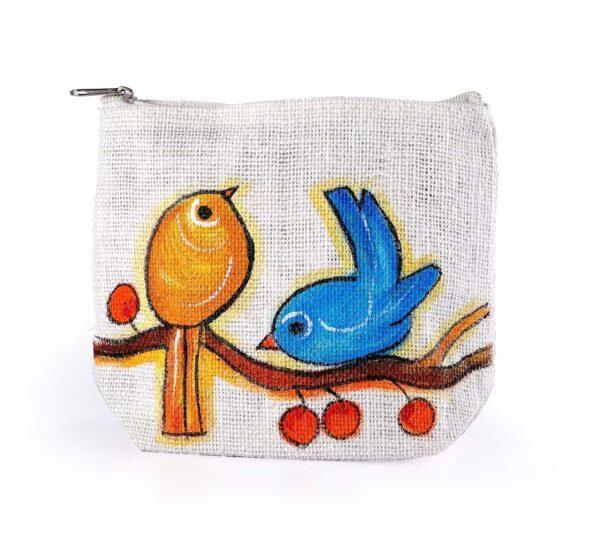 Ladies Parts bag Colourful Birds Printed