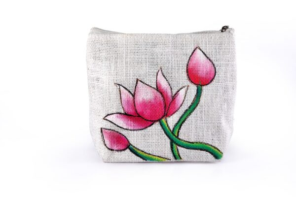 Ladies Parts Bag Lotus Printed