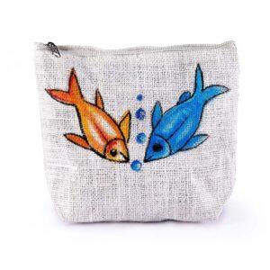 Ladies Parts bag Fish Printed