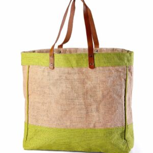 Jute Beach bag Brown Handle