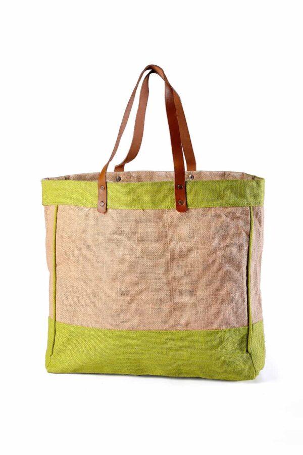 Jute Beach bag Brown Handle
