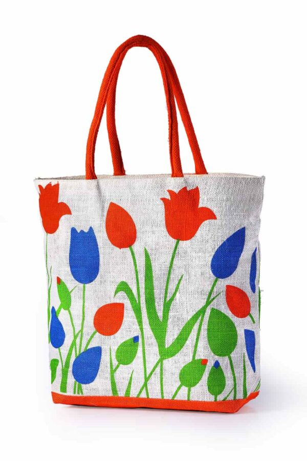 Jute Fashion bag Multicolor Printed