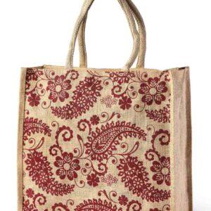 Jute Shopping Bag Art Printed