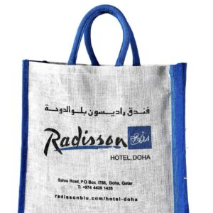 Jute Promotional bag Radisson Printed