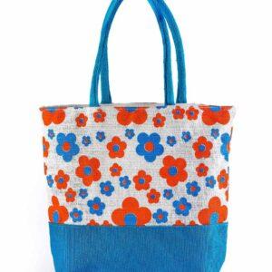 Jute Fashion bag All Side Printed