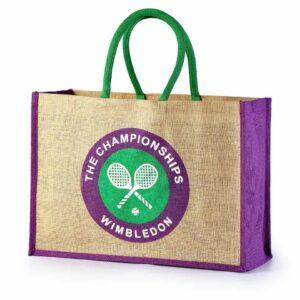 Jute Promotional Bag Wimbledon Logo Printed