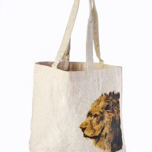 Canvas Beach Bag Lion Printed