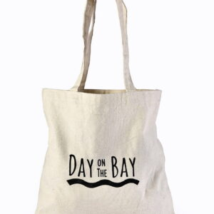 Cotton Beach Bag Black Printed