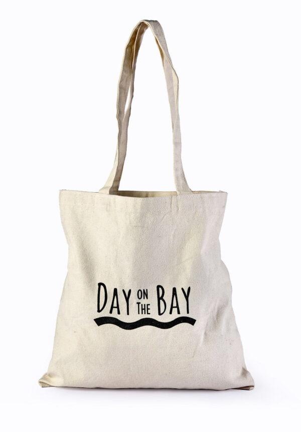 Cotton Beach Bag Black Printed