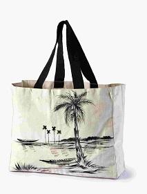 Canvas Beach Bag Tree Art Printed