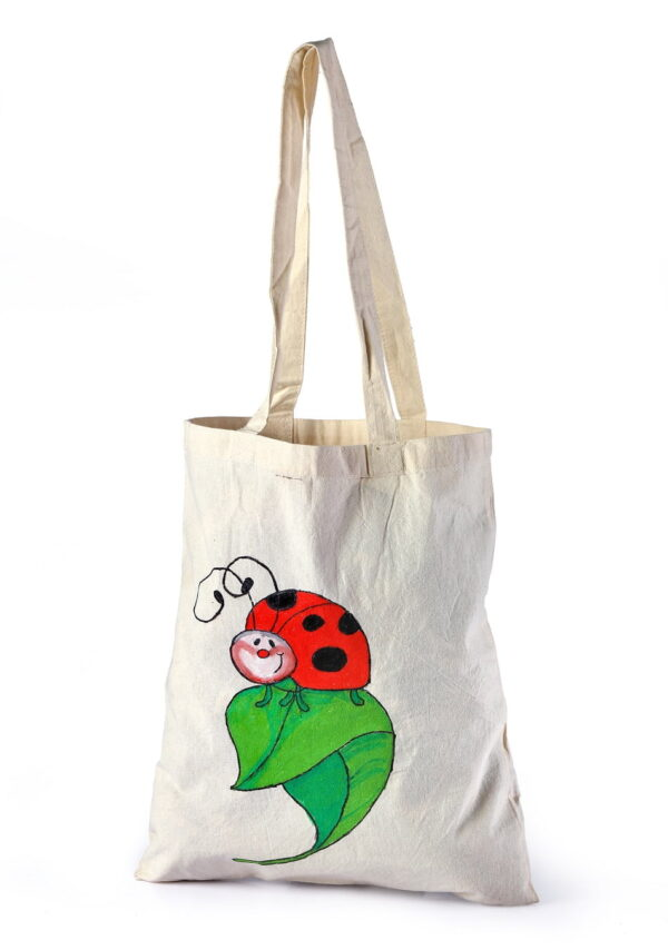 Cotton Beach Bag Insect Leaf Printed