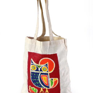 Cotton Beach Bag Beautiful Owl Printed