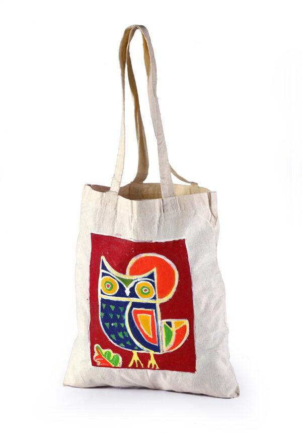 Cotton Beach Bag Beautiful Owl Printed