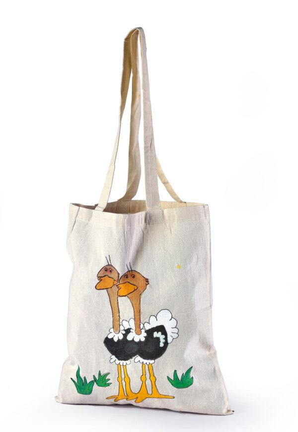 Calico Bag Ostrich Printed