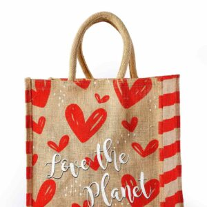 Jute Promotional bag Love Printed