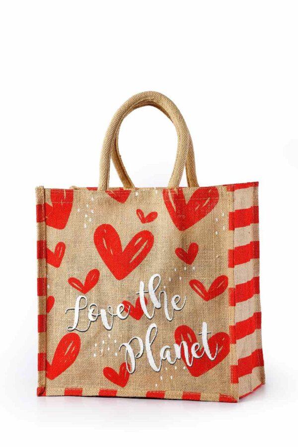 Jute Promotional bag Love Printed