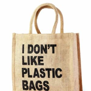 Jute Promotional Bag Printed Black