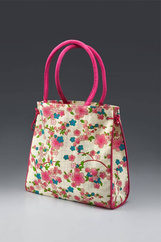 Jute Fashion bags Multi-color All Side Print